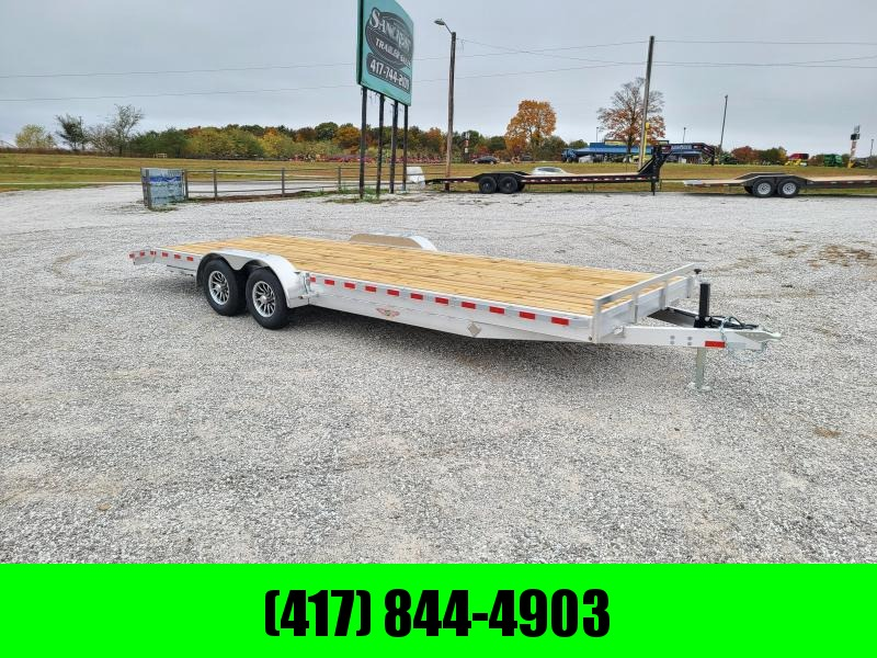 2021 H and H Trailer 82 X 24 ALUMINUM CAR HAULERW/5200LB AXLES