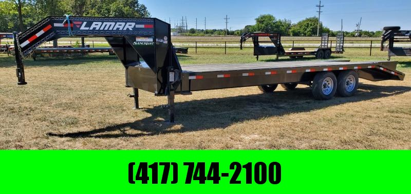 2017 Lamar 102X25 TANDEM 14K GOOSENECK W/2 FLIP OVER RAMPS & CENTER POP-UP