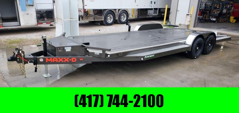 2021 MAXXD 83X22 TANDEM 10K METALLIC GRAY N6X W/SPLIT TAIL ETRAC TOOLBOX & IN FLOOR LIGHTS