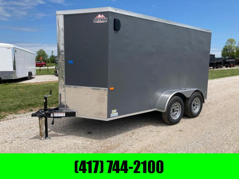 2021 Rock Solid Cargo 6X12 TANDEM 7K W/ 6' HEIGHT