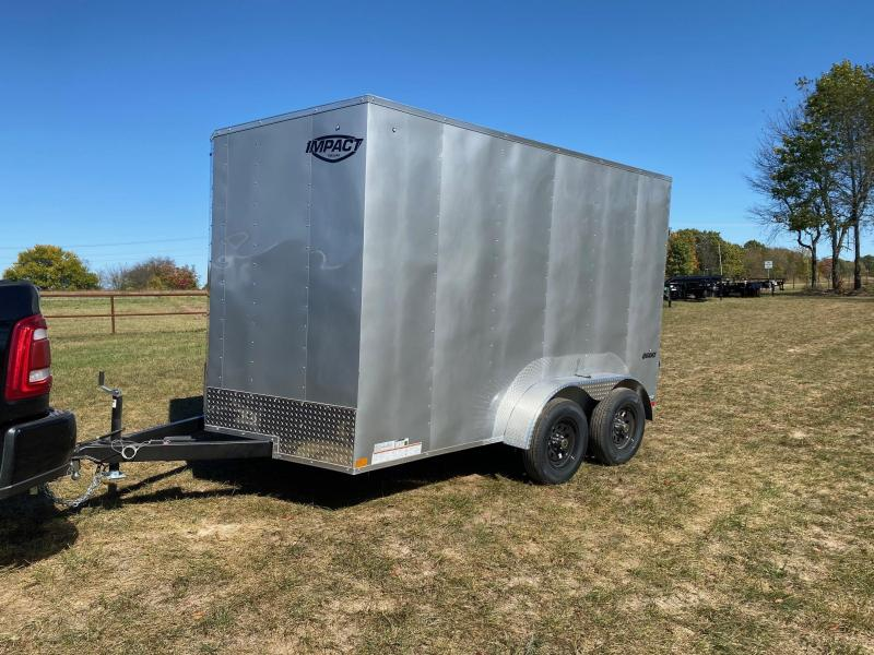 2021 Impact 7X12 TANDEM 7K SILVER CARGO W/7' HEIGHT