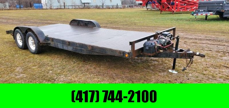 1999 JAMI 83X20 TANDEM 7K CAR HAULER W/STEEL DECK & 12K WINCH
