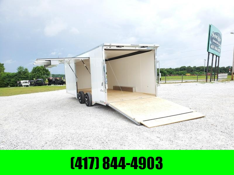 "2021 Impact Trailers  8.5X24 TANDEM WHITE ALUMINUM SHOCKWAVE CARGO W/7' HEIGHT 5200 TORSION AXLES(48"" SPREAD)"