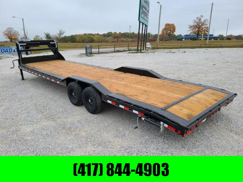 2021 Load Trail 102X32 TANDEM 14K GN CAR HAULER W/STAB JACKS & SLIDE OUT RAMPS