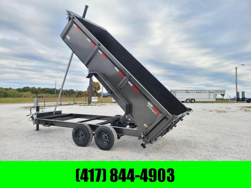 2021 MAXXD 83X16 TANDEM 16K METALLIC GRAY TELESCOPIC DUMP W/3FT SIDES
