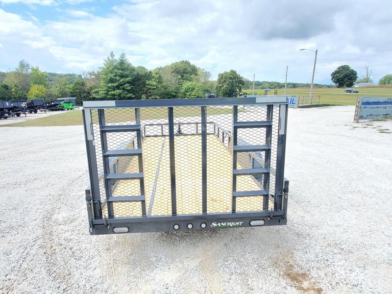 2022 MAXXD 83X18 TANDEM 10K UTILITY W/ 4' FOLD GATE