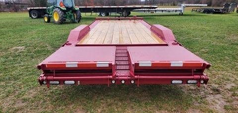 2021 MAXXD 102X24 TANDEM 14K RUBY RED METALLIC BUGGY HAULER W/MAXXD OUT RAMPS TONGUE TOOLBOX & ALUMINUM WHEELS