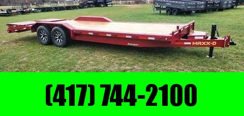 2021 MAXXD 102X24 TANDEM 14K RUBY RED METALLIC BUGGY HAULER W/MAXXD OUT RAMPS TONGUE TOOLBOX & ALUMINUM WHEELS