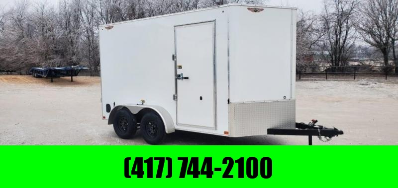 "2021 H&H 7X12 TANDEM 7K CARGO W/7"" HEIGHT & BARN DOORS"