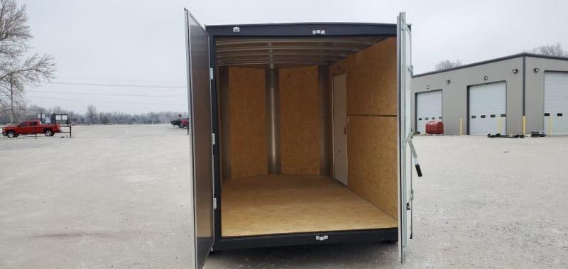 "2021 H&H 7X12 TANDEM 7K CARGO W/7"" HEIGHT & BARN DOORS"
