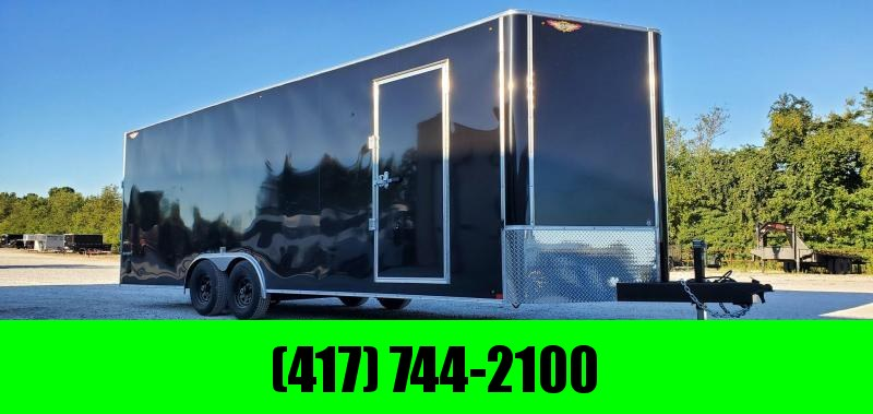 2021 H&H 101X24 TANDEM 10K BLACK CARGO W/7' HEIGHT
