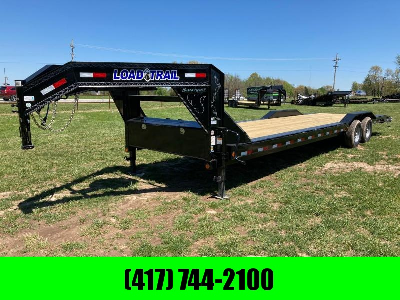 2021 Load Trail 102X30 TANDEM 14K GOOSENECK CAR HAULER W/ 2FT DOVE & SLIDE IN RAMPS