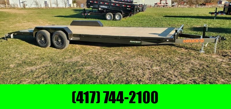 2021 MAXXD 83X24 TANDEM 10K C5X CAR HAULER W/SLIDE OUT RAMPS & STAB JACKS