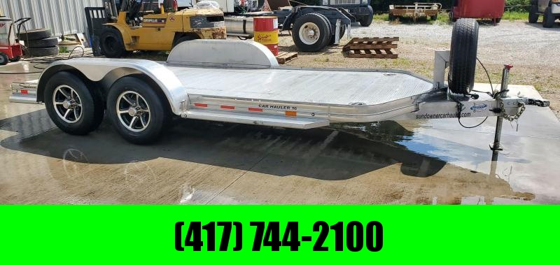2018 Sundowner 83X16 TANDEM 10K ALUMINUM CAR HAULER W/EXTRUDED DECK & SLIDE OUT RAMPS
