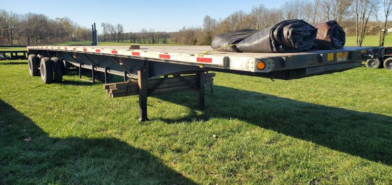 2006 Utility 102X48 COMBO FLATBED WITH RATCHET RAIL STRAPS & TARPS