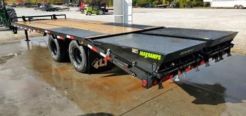 2021 Load Trail 102X25 TANDEM LO-PRO PINTLE W/12K AXLES 14 PLY & MAX RAMPS