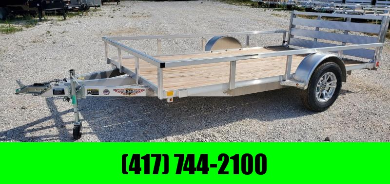 "2020 H&H 76X12 SINGLE 3.5K ALUMINUM UTILITY W/52"" BI-FOLD GATE"