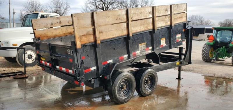 "2020 Big Tex 83X14 TANDEM 14K GN DUMP W/24"" SIDES 24"" WOOD EXTENSIONS& 14PLY TIRES"