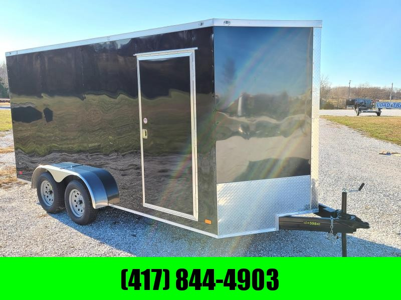 2020 COVERED WAGON  7 X 16 CARGO BLACK