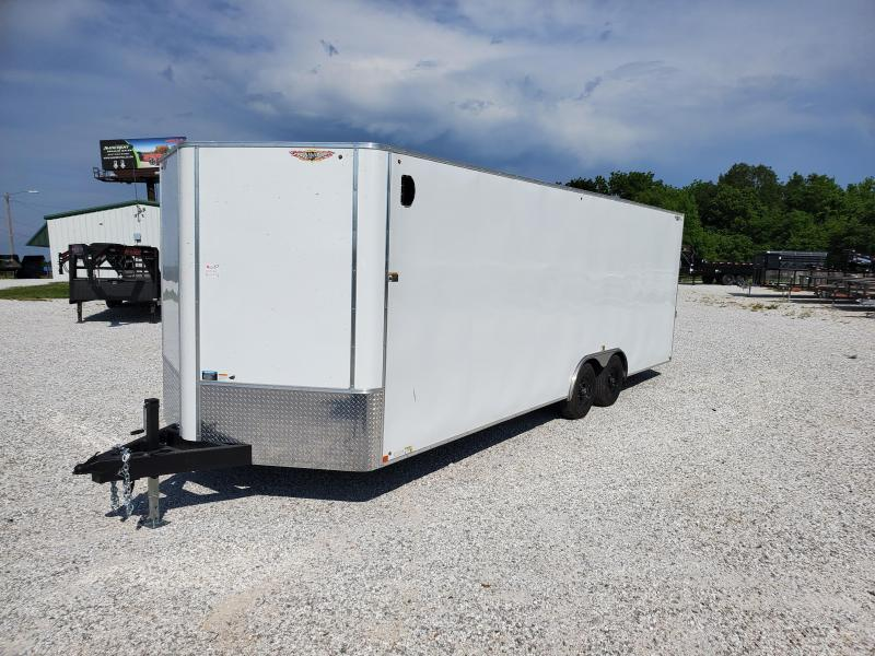 2020 H&H 101X24 TANDEM 10K WHITE CARGO W/7' HEIGHT