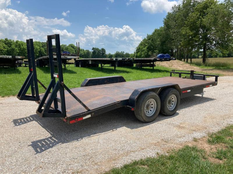 2006 MAXEY 83X20 TANDEM 14K CARHAULER W/ 4' DOVE & STAND UP RAMPS