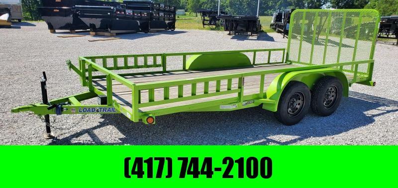 2020 Load Trail 83X16 TANDEM 7K SAFETY GREEN UTILITY W/RAMP RAILS & 4' GATE