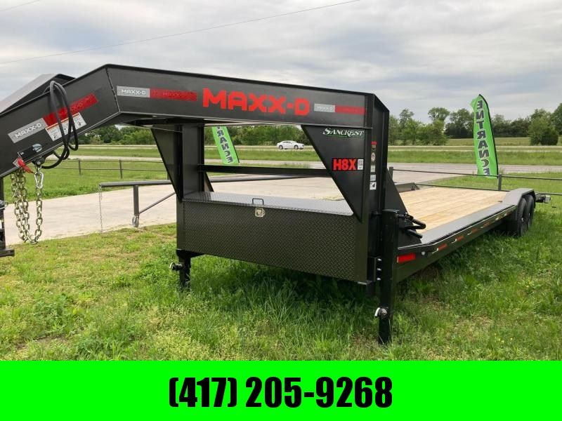 2021 MAXXD 102X30 14K GOOSENECK CAR HAULER W / SLIDE IN RAMPS