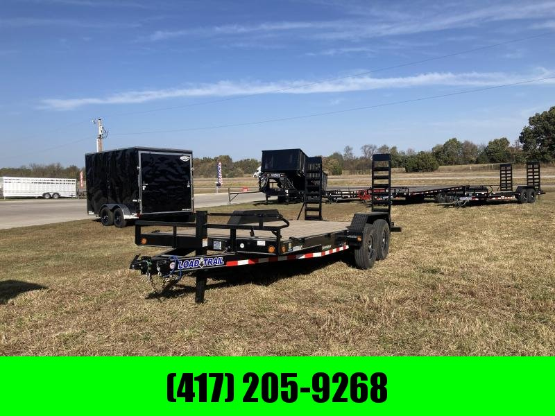 2021 Load Trail 83x18 Tandem Carhauler Equipment Trailer W/Stand Up Ramps