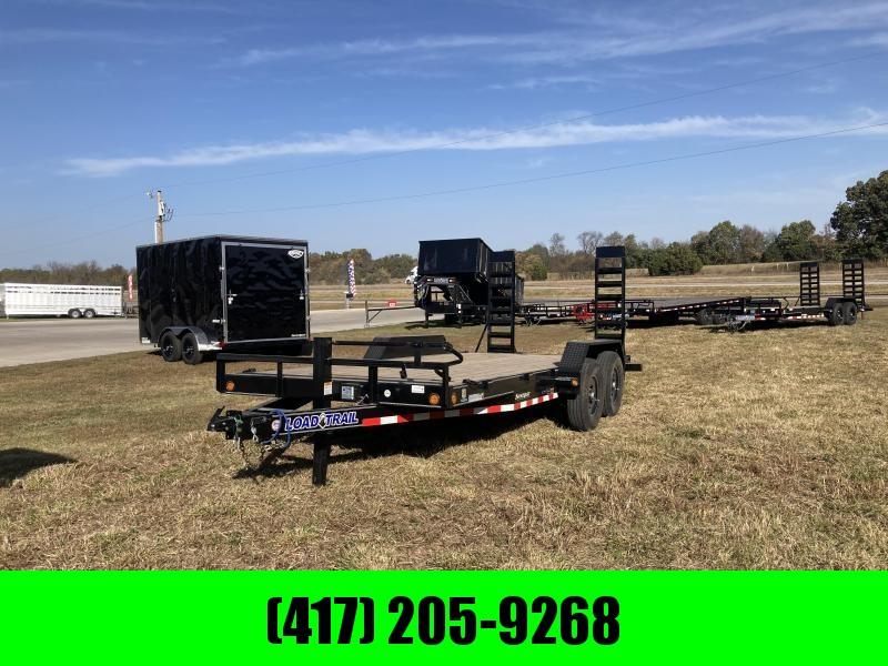2021 Load Trail 83x18 Tandem Carhauler Equipment Trailer W/Stand Up Ramps