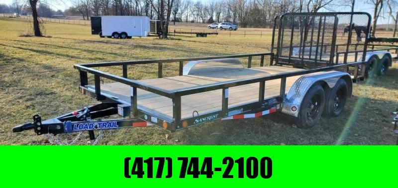 "2021 Load Trail 83X16 TANDEM 7K UTILITY W/HD 4"" FRAME 4' GATE & REMOVABLE RAILING"