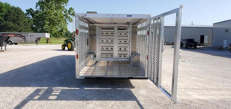 "2020 EBY 8'X32'X6'6"" TANDEM RUFFNECK 25K GOOSENECK W/SLIDE GATE ROLLING GATE & CURBSIDE RAMP DOOR"