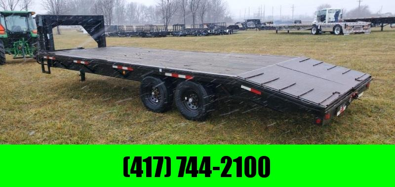 2000 Trailerman 102X24 TANDEM 14K GN W/NEW BRAKES TIRES & WHEELS ADJ. DOVETAIL W/CLETES