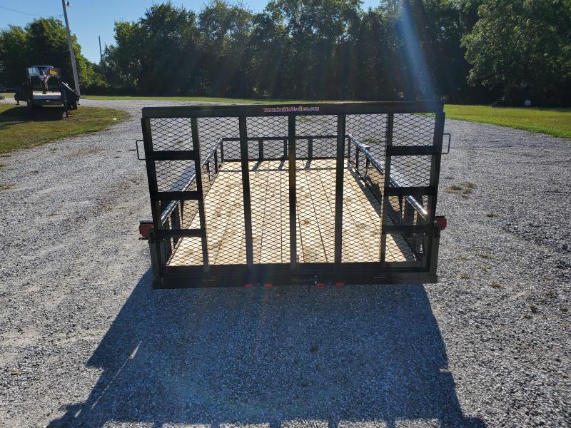 2021 Double A 83X14 TANDEM 7K UTILITY W/ 4FT FOLD GATE & SINGLE BRAKE AXLE