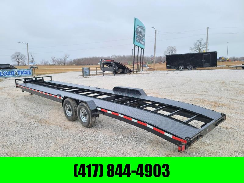 2019 TEXAS PRIDE 83 X 36 2 CAR HAULER W/ 8KS AXLES