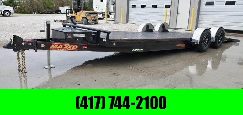 2020 MAXXD 80X24 TANDEM 10K WET BLACK DROP-N-LOAD CAR HAULER W/AIR RIDE SUSPENSION