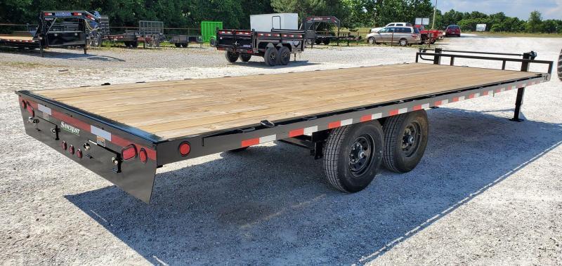 2020 Load Trail 102X24 TANDEM 14K DECKOVER W/8'SLIDE OUT RAMPS
