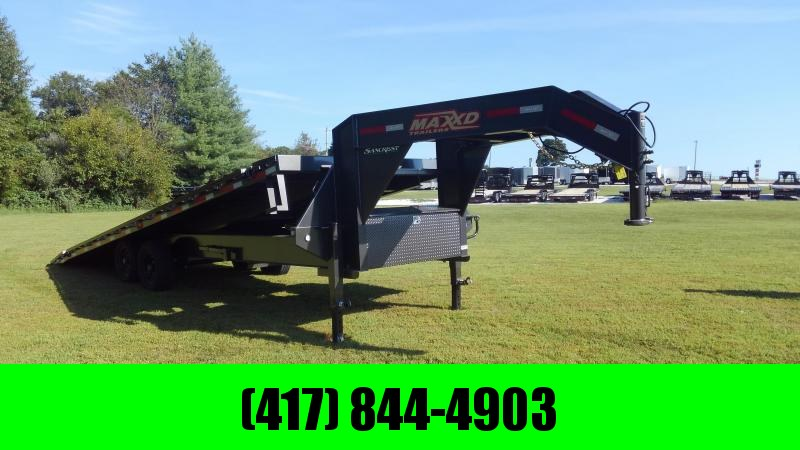 2020 MAXXD 102X26 TANDEM 14K FULL TILT GOOSENECK WITH KNIFE EDGE & WINCH PLATES