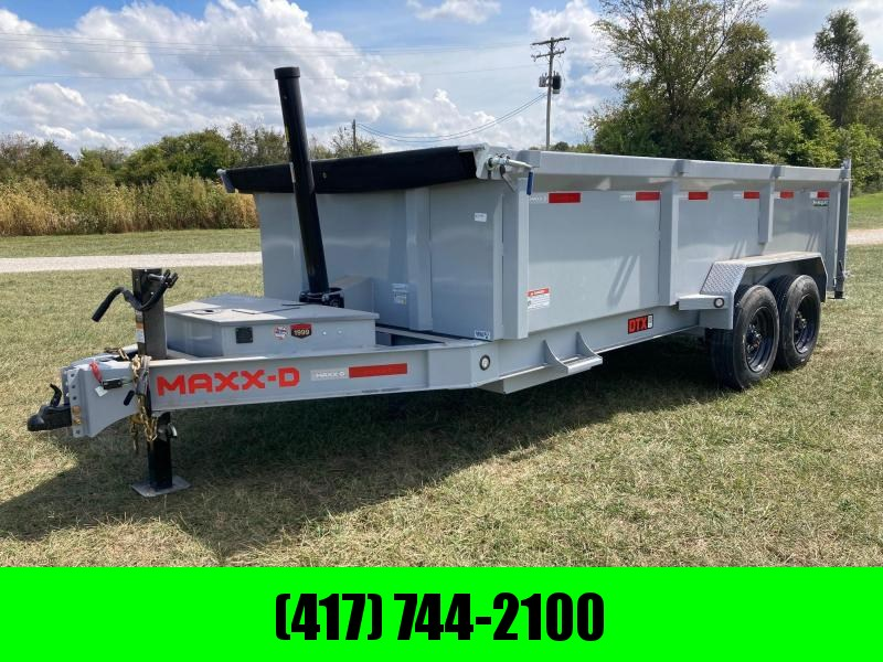 2022 MAXXD 83X16 TANDEM 16K TELESCOPIC DUMP W/ 3' SIDES, SLIDE IN RAMPS, WIRELESS REMOTE, AND UNDER FRAME TOOL TRAY