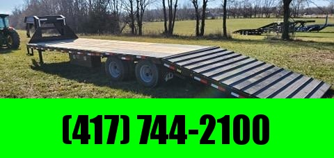2021 Load Trail 102X34 TANDEM LO-PRO GN W/12K AXLES(HDSS) 14PLY HYDROJACKS & FULLY CLETED 10' HYDROTAIL