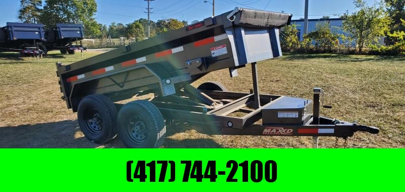 "2020 MAXXD 60X10 TANDEM 7K DUMP W/18"" SIDES SLIDE OUT RAMPS & 8PLY TIRES"