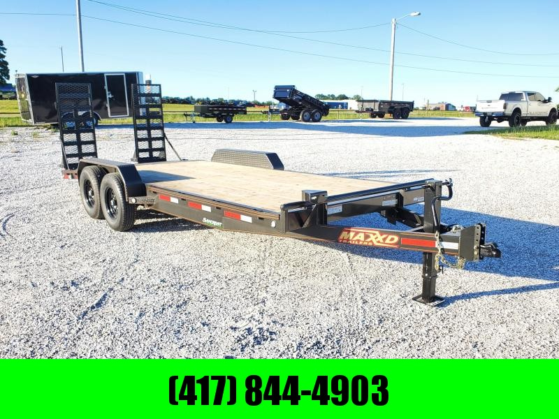 2020 MAXXD 83X20 TANDEM 14K EQUIPMENT HAULER W/EQUIPMENT STAND UP RAMPS