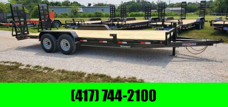 2021 Double A 83X22 TANDEM 14K EQUIPMENT HAULER W/EQUIPMENT STAND UP RAMPS