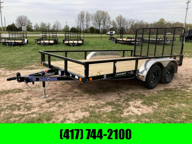 2021 Load Trail 83X14 TANDEM 7K UTILITY W/ 4FT FOLD GATE AND REMOVEABLE SIDES