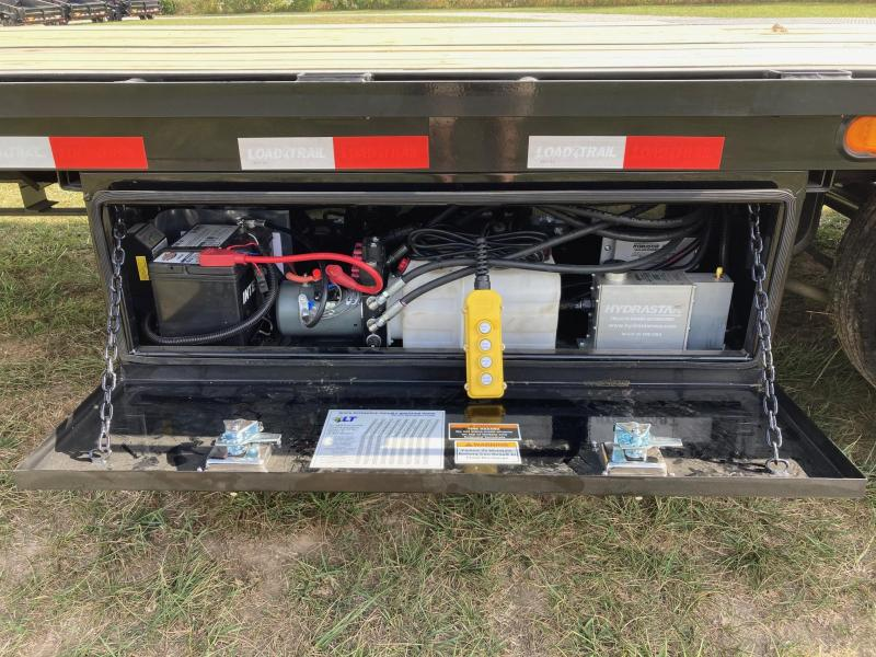 2022 Load Trail 102X34 TANDEM 25.9K GN HYDROTAIL W/ HYDROJACKS, CHAIN RACK, & EXTRA TOOL BOXES