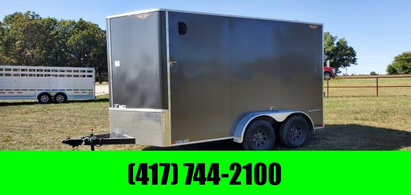 2021 H H 7X12 TANDEM 7K CHARCOAL CARGO W 7 HEIGHT