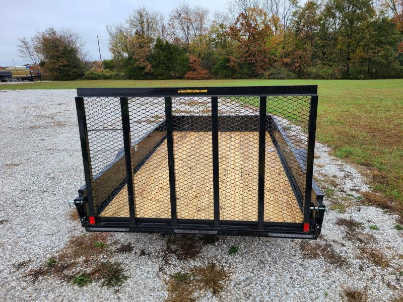 "2021 H&H 76X12 SOLID SIDE SINGLE 3.5K UTILITY W/50"" SPRING ASSIST GATE"