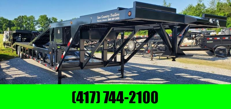 2020 Sun Country 102X53 DROP DECK 4/5 CAR HAULER W/ 12K HYD. DISC AXLES & ALUMINUM RAMPS