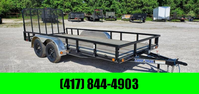 2020 Load Trail 83X16 TANDEM 7K UTILITY W/REMOVABLE FENDERS & RAILS