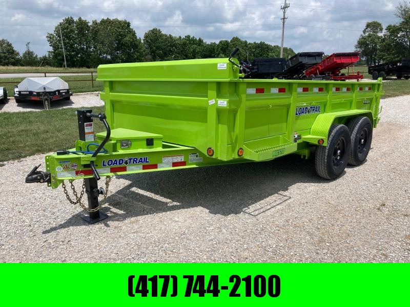 """2021 Load Trail 83X14 TANDEM 14K DUMP W/ 24"""" SIDES AND SLIDE IN RAMPS"""