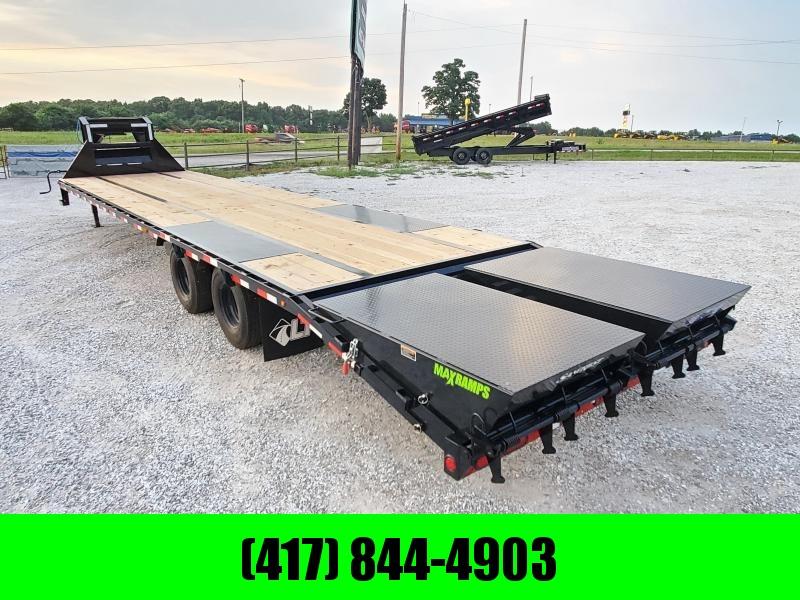 "2021 Load Trail 102"" x 36' Tandem Low-Pro Gooseneck w/Under Frame Bridge & Pipe Bridge & Hyd Disc Brakes"